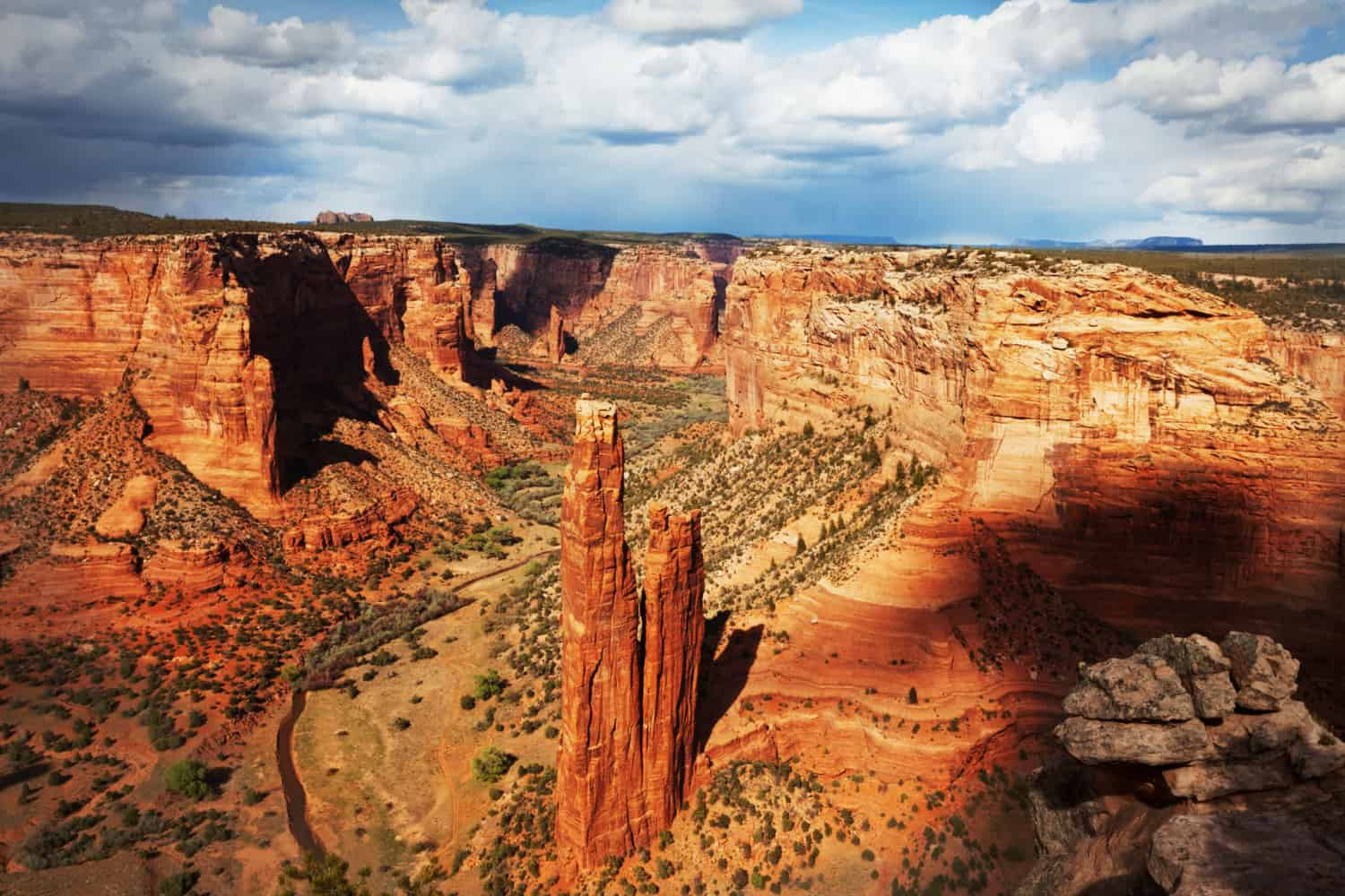 Spider Rock in Canyon De Chelly National Monument in Arizona
