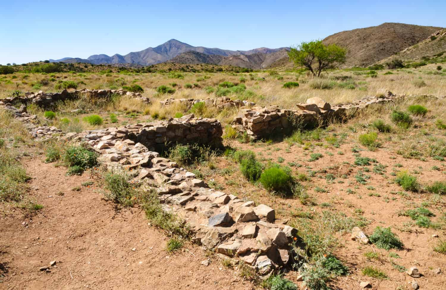 Landscape at Fort Bowie National Historic Site in Arizona