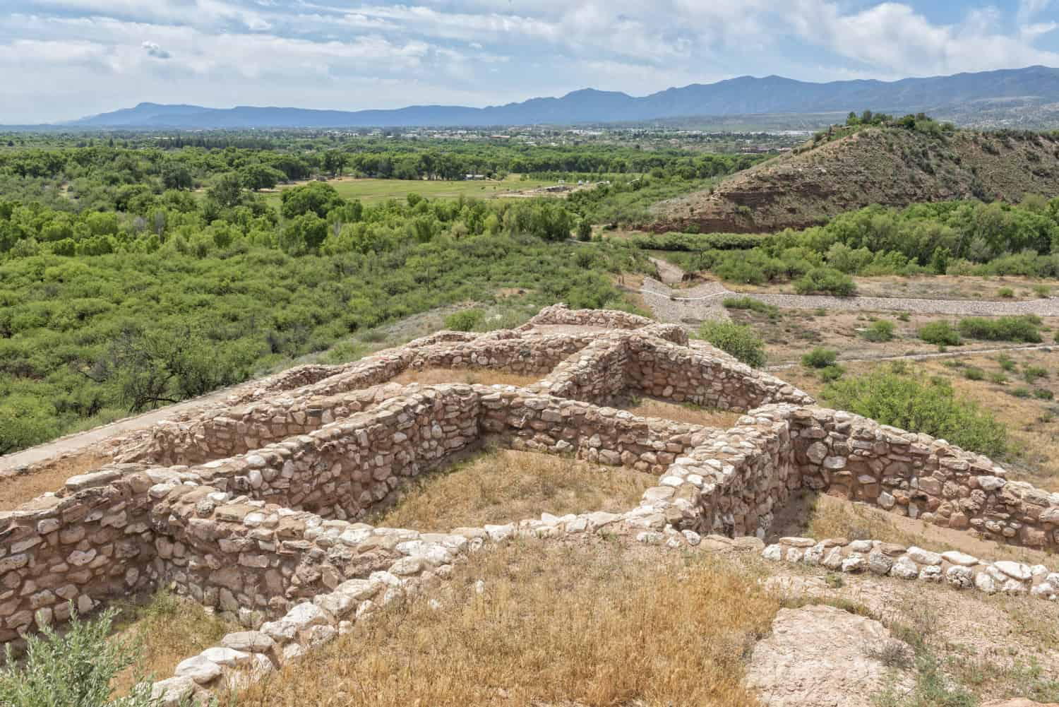 Ruins and landscape at Tuzigoot National Monument in Arizona