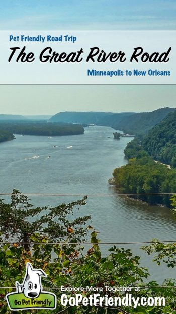 The Mississippi River from a bluff over the Great River Road