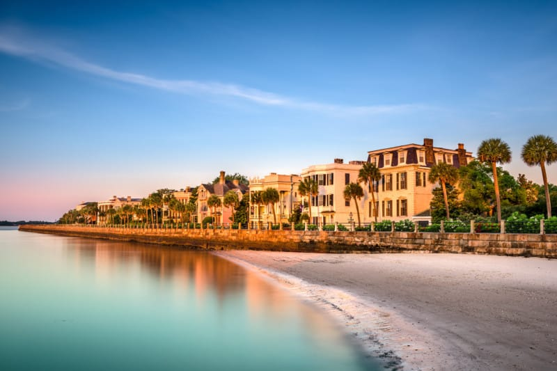 Home along the beach in Charleston, SC