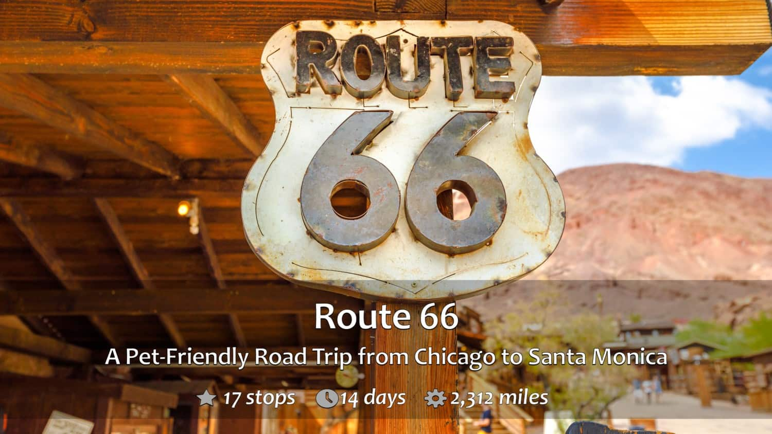 A Route 66 Sign in Calico Ghost Town, Yermo, California