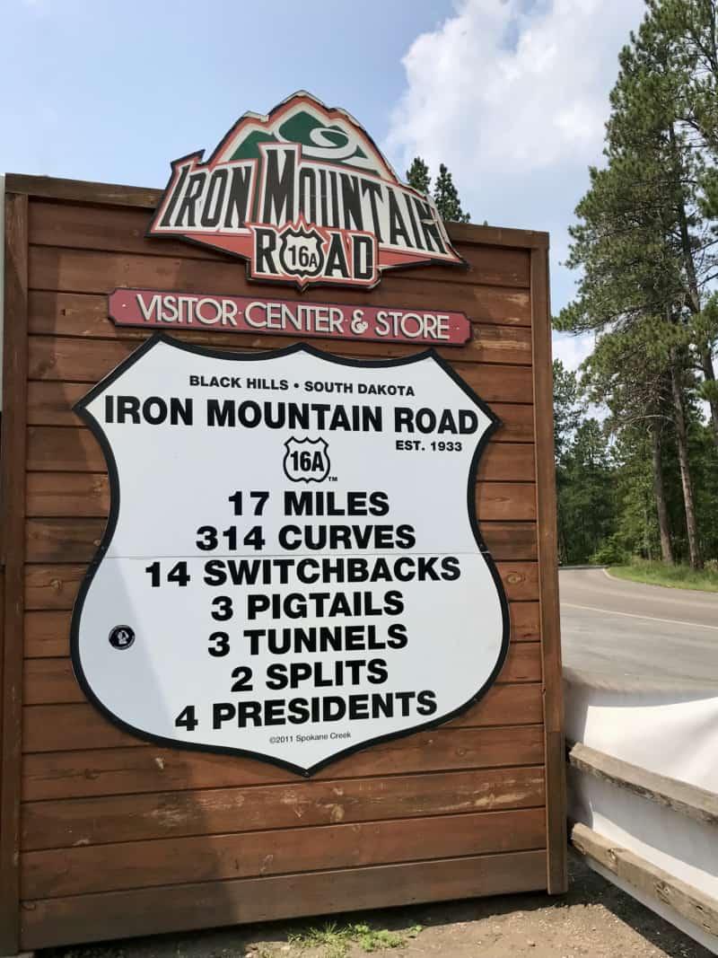 Sign describing Iron Mountain Road in the Black Hills, South Dakota