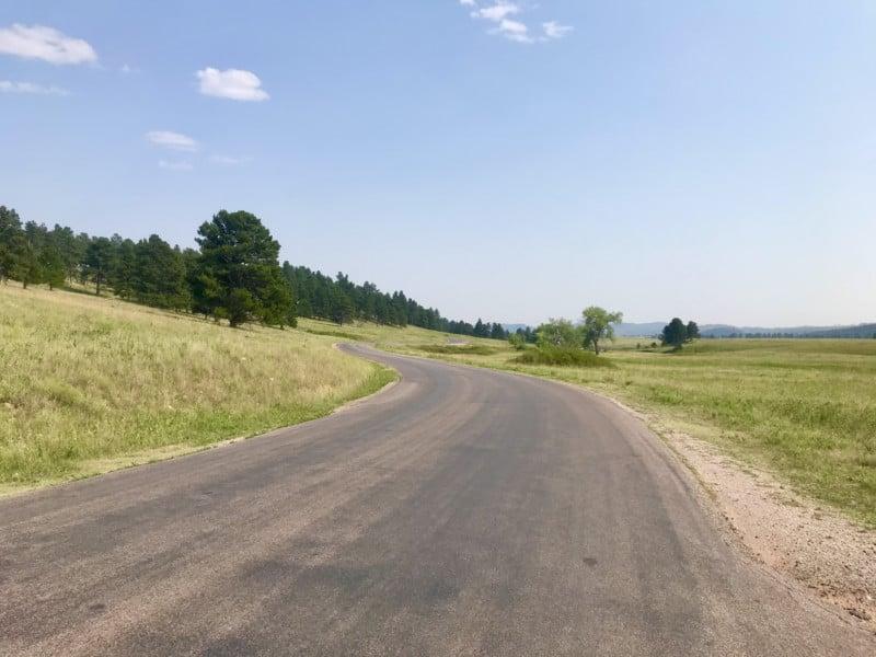 Landscape of Wildlife Loop in pet friendly Custer State Park in South Dakota