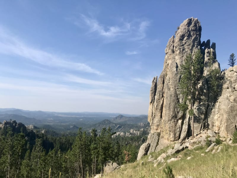 View from Needles Highway in Custer State Park, SD