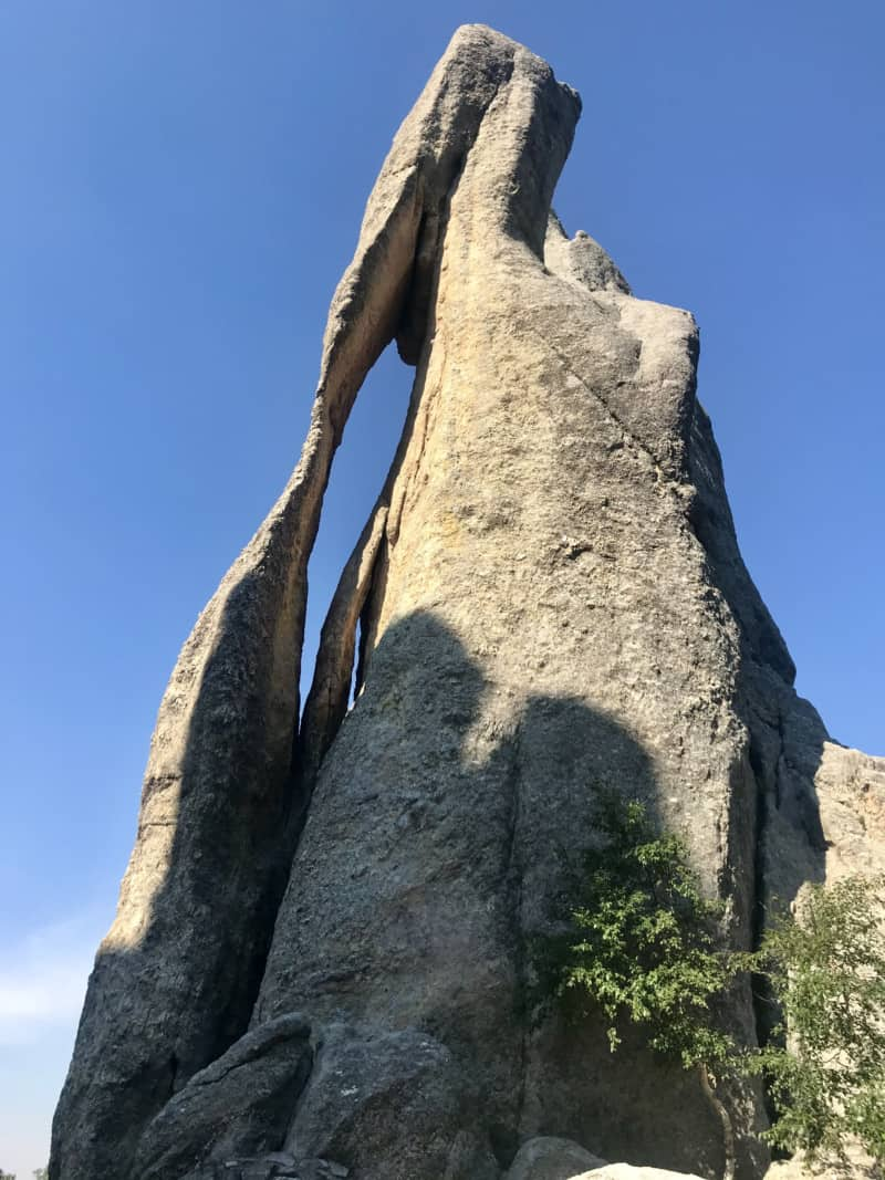 Needle's Eye rock formation in Custer State Park, SD