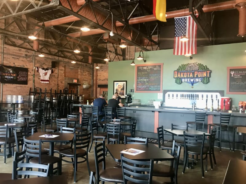 Interior of pet friendly Dakota Point Brewing in Rapid City, SD
