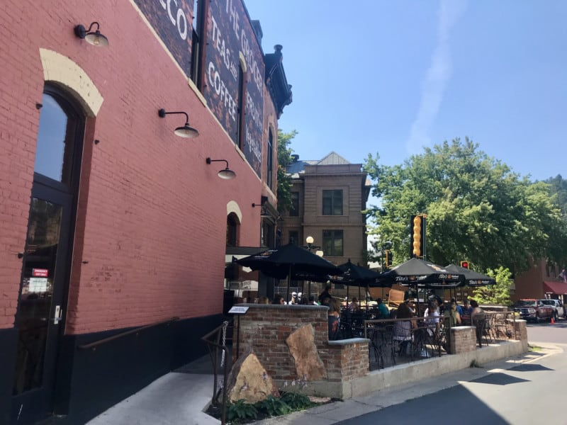 Pet friendly patio at Jacobs Brewhouse and Grocer in Deadwood, SD