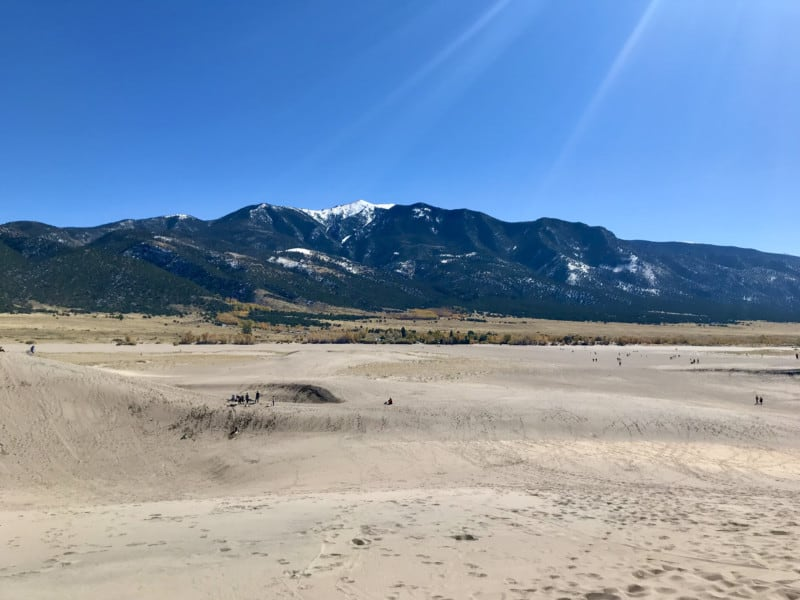 Sangre de Christo Mountains from Great Sand Dunes National Park in Colorado