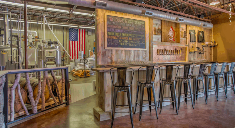 Photo of the pet friendly bar at Lost Cabin Beer Company in Rapid City, SD