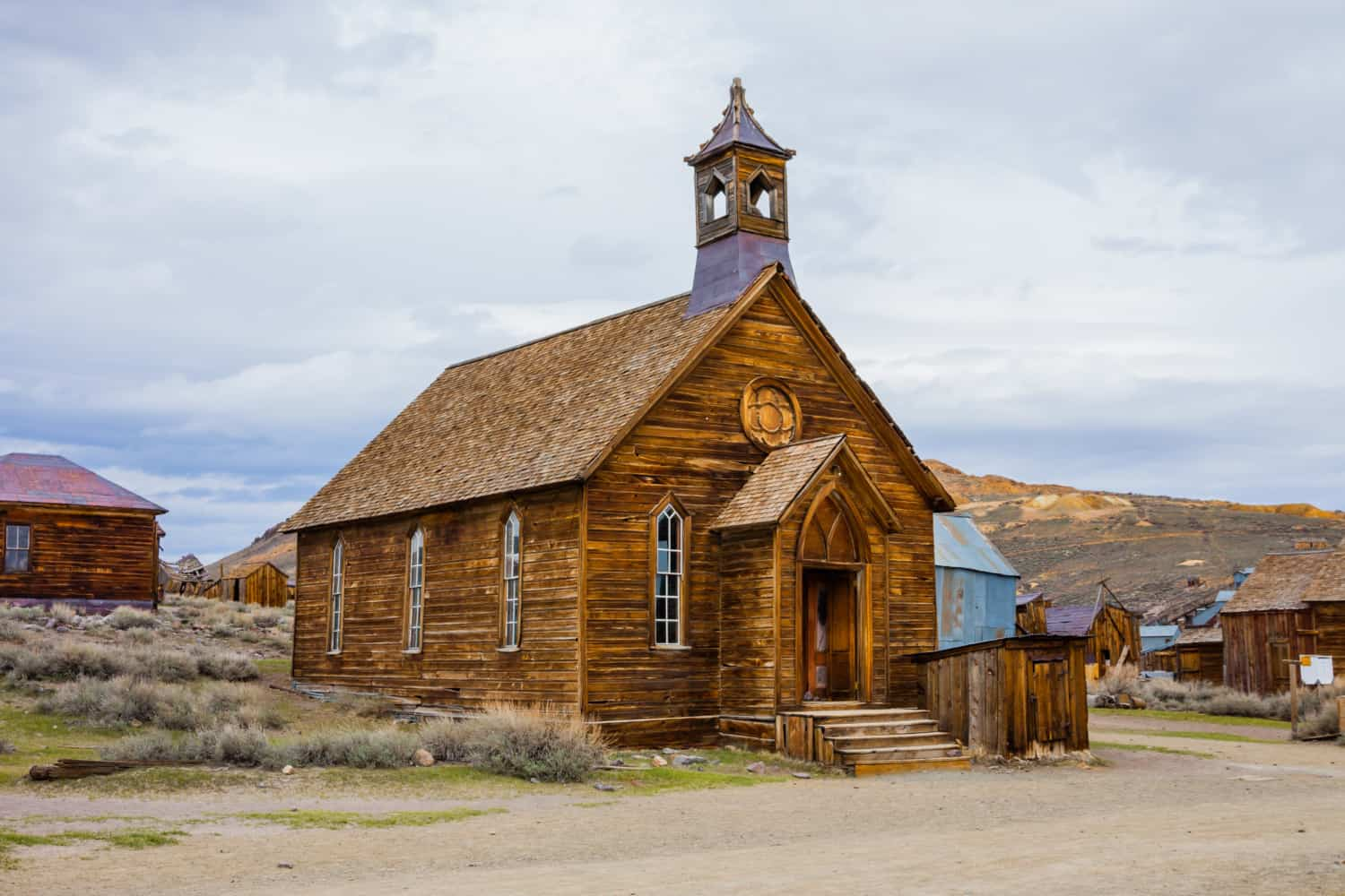 The church at pet friendly Bodie Ghost Town in California