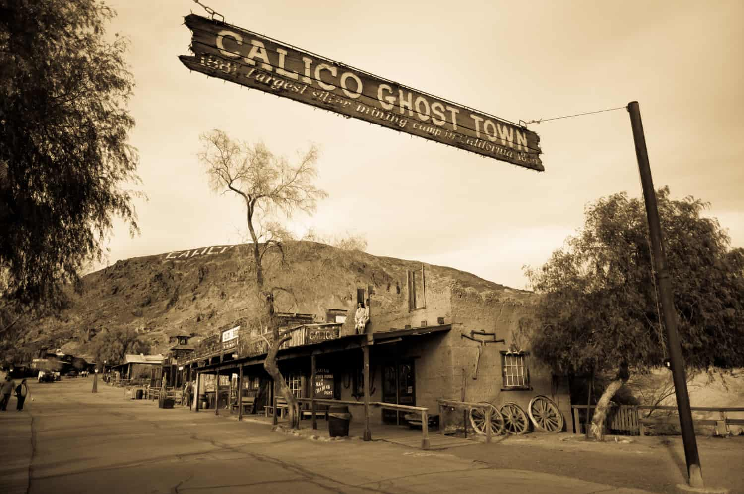 Image for the street in pet friendly Calico Ghost Town, CA