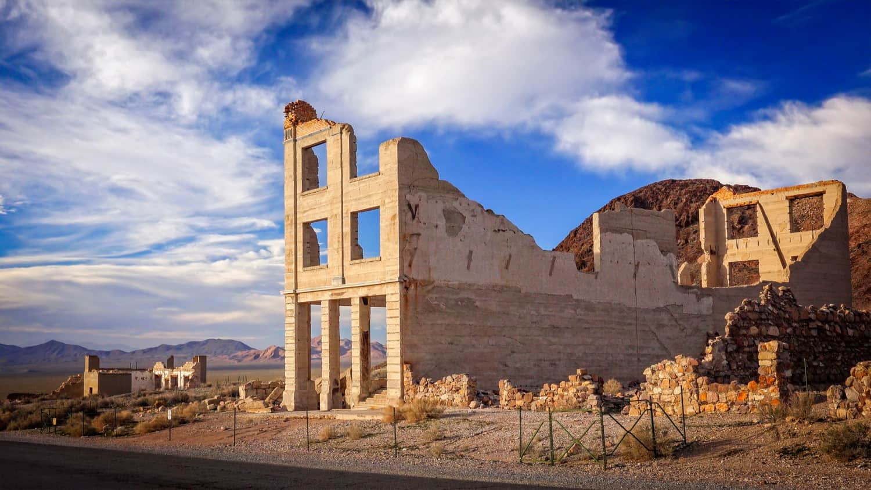 Pet friendly Rhyolite Ghost Town Bank Ruins