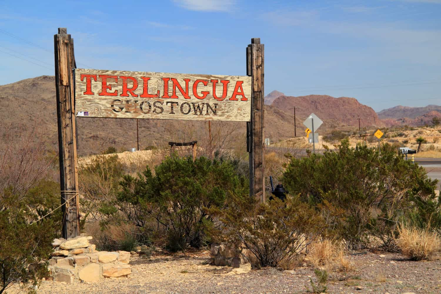 Sign at Terlingua Ghost Town in Texas