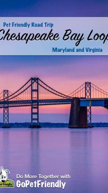 The Chesapeake Bay Bridge at sunset