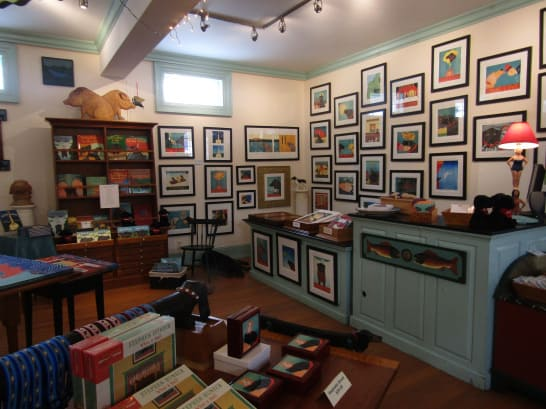 Art gallery at Dog Mountain in St. Johnsbury, VT