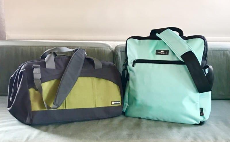 Ruffwear pet duffle bag and Sleepypod Go Bag