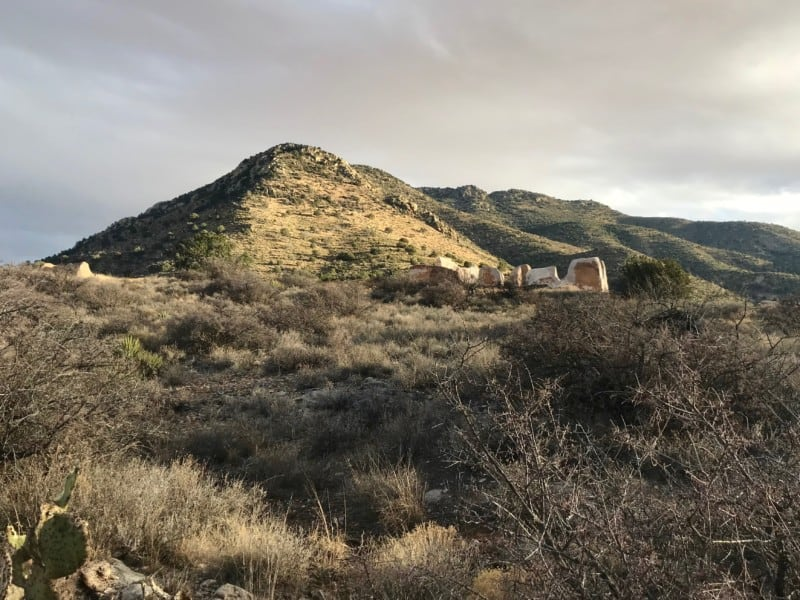 Fort Bowie National Historic Site at sunset