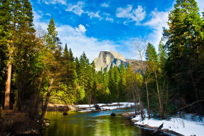 Half Dome Rock in Yosemite National Park, CA